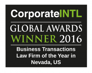 2016 Global Awards - Business Transactions Law Firm of the Year in Nevad...