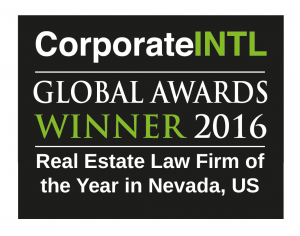 2016 Global Awards - Real Estate Law Firm of the Year in Nevada, US